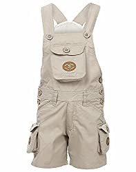 FirstClap offwhite Cotton Dungaree for kids