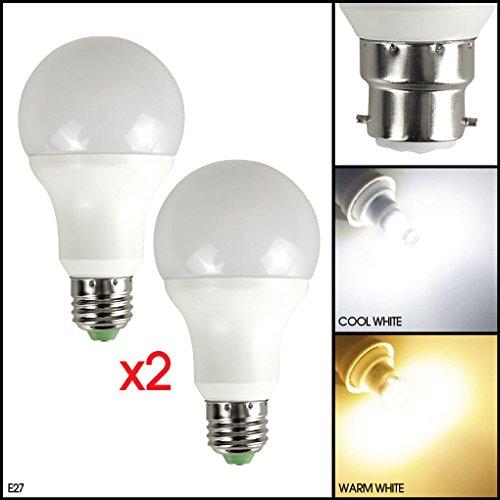 MSC LED-Lampe mit Dämmerungsabhängigem Lichtsensor 5Watt 450Lumen B22/E27–Automatischer Lichtsenser mit LED-Birne–Automatische an-/abschaltung–Warmweißes Leuchtmittel mit 3000K, Energiesparend 5W–entspricht 50-W-Glühlampe 5.00 wattsW, 220.00 voltsV Dusk To Dawn Glühbirne Adapter