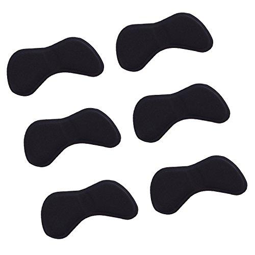 3 Paar Schuhe Fersenschutz Einlegesohlen HighHeels Fersenhalter Kissen Fuß Schutz Fußballen (Schmetterling schwarz)