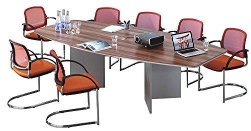 Hammerbacher Konferenztisch für 10 Personen mit 6 Chromfüßen KT2