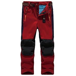 SiDiOU Group Pantaloni da Trekking Bambino Pantaloni Softshell Ragazzi Pantaloni da Escursionismo Ragazze Pantaloni da Campeggio Pantaloni Impermeabili esterni all'aperto Pantaloni antivento foderati (S 23