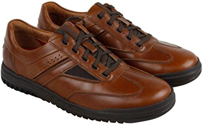 Clarks Men's UnRhombus Fly Brown Leather 8 EE US