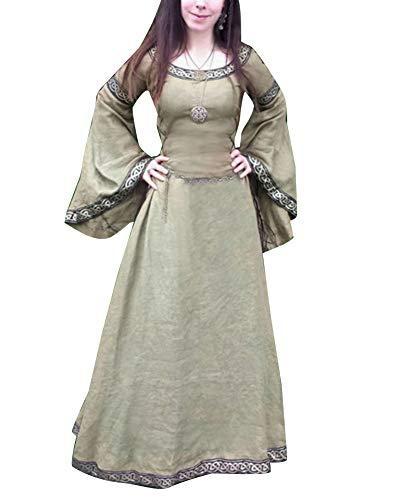 Bettler Kostüm Mittelalter - Mengyu Damen Kleid Mittelalterliche Kleider Frauen
