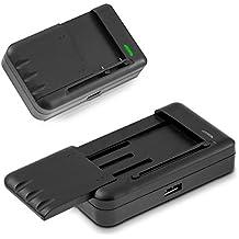 kwmobile cargador de batería universal para móvil - cargador externo de batería con puerto USB - cargador para Samsung LG HTC Motorola Huawei Nokia