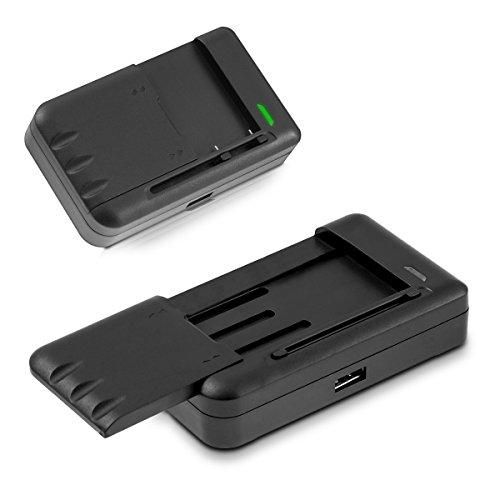 kwmobile Universal Smartphone Akku Ladegerät - Handy Batterie Ladestation 1000mA mit USB-Anschluss - für Samsung LG HTC Motorola Huawei Nokia