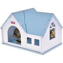 Casa de Madera Casa de Mascotas Casa pequeña para hámsters Erizo Hámster Dorado Cálida ...