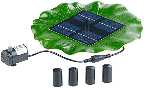 Royal Gardineer Solar-Brunnen: Schwimmender Solar-Teich-Springbrunnen mit Pumpe und 4 Düsen (Spring-Brunnen)