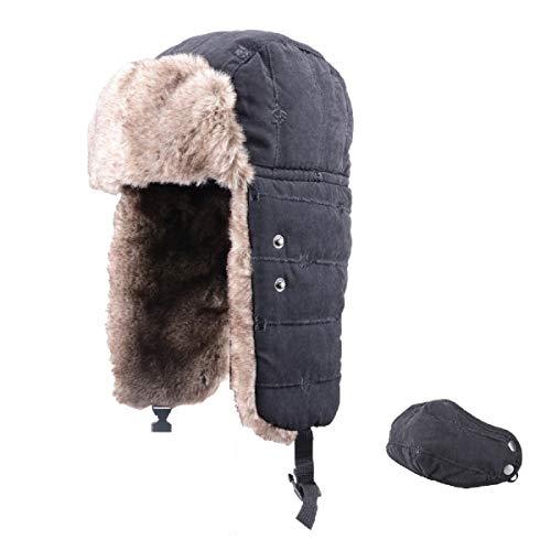 TRIWONDER Sombrero Soldado Esquí Térmico Invierno