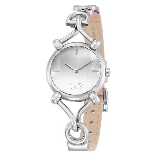 Dolce & Gabbana 2H LADY SILVER DIAL PINK STRAP DW0497 - Reloj de mujer de cuarzo, correa de piel color rosa