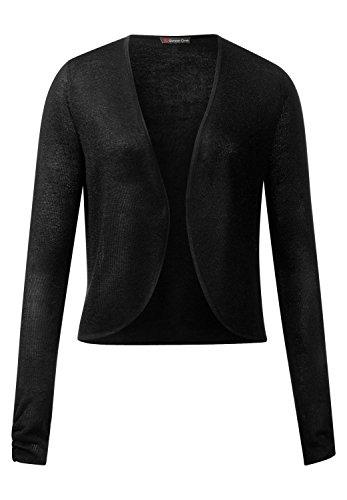 Street One - Gilet - Uni - Manches Longues - Femme Noir noir 38 Black (Schwarz)
