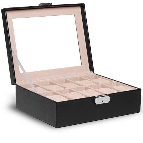 jago-boite-a-10-montres-avec-serrure-coffret-presentoir-a-montres-en-simili-cuir-modele-au-choix