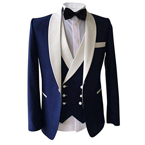 Costume Homme Trois pièces Costard élégant Habit Blazer Pantalo