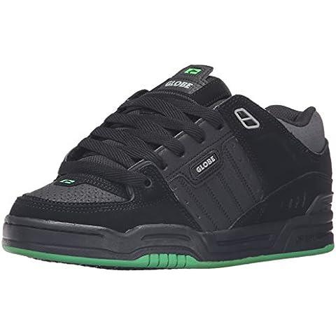 GLOBE Skateboard Shoes FUSION BLACK/BLACK/GREEN Size 8.5
