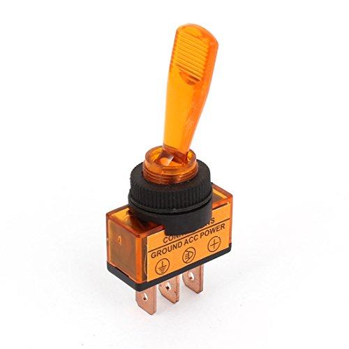 sourcingmap-interruttore-arancione-con-led-a-levetta-3-pin-12-v-dc-spst-per-auto-barca-veicolo-marin