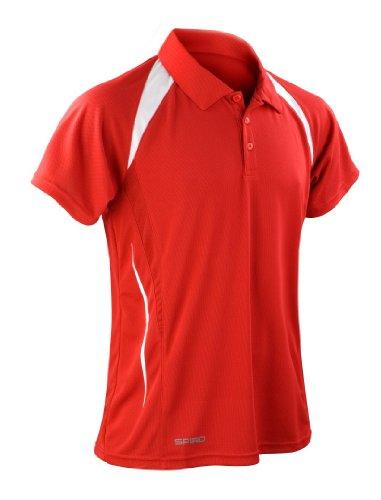 Spiro Herren Poloshirt Rot - Rot