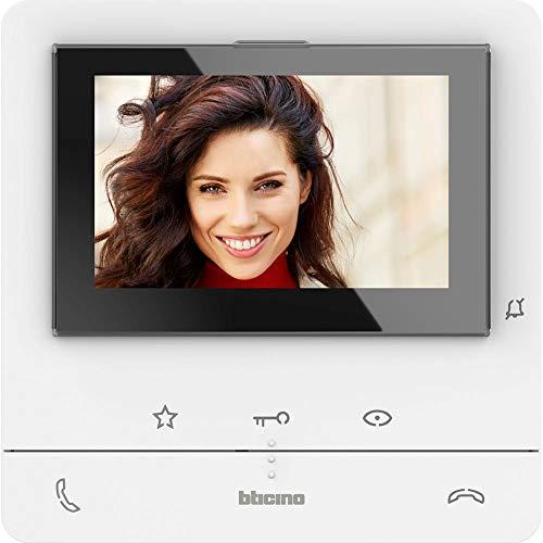 Bticino 344652 Classe 100 Videocitofono 2 FILI Vivavoce Con Display a Colori 5', 2 Tasti fisici e 3 a Sfioramento