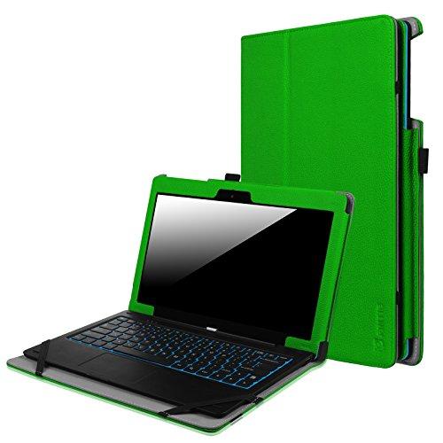 Fintie Odys Winpad 12 Hülle Case - Slim Fit Folio Premium Kunstleder Tastatur Ständer Schutzhülle Cover Tasche für Odys Winpad 12 / Odys Evolution 12 - 2in1 11,6 Zoll (29,5 cm) Convertible Tablet-PC, Grün