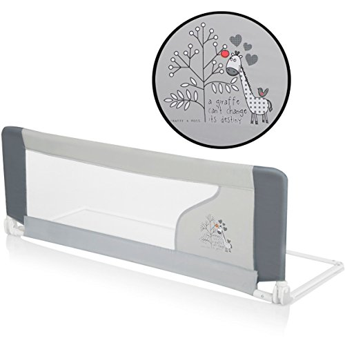 Bettschutzgitter Bettgitter GIRAFFE (120 x 40 cm) für Kinderbett