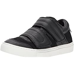 Skecher Street Women's Side Street-Smooth Over Fashion Sneaker, Black, 7 M US