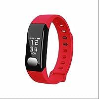 Pulsera Deportiva Reloj Fitness pulsera inteligente,Pulsera Reloj Inteligente con Contador de Pasos,Monitor de Dormir,Notificación de mensajes,Contador de Calorías,Sensor de ritmo cardíaco para Android/iOS Smartphone