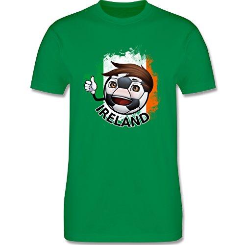 EM 2016 - Frankreich - Fußballjunge Irland - Herren Premium T-Shirt Grün