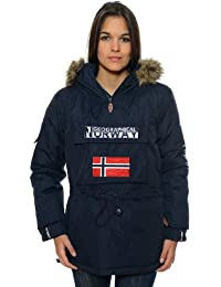 Geographical Norway – Parka de mujer, color azul marino