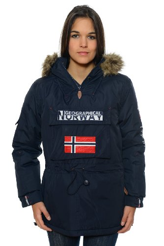 Geographical Norway – Parka de mujer, color azul marino azul marino 42