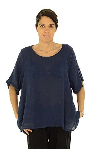 Mein Design Lagenlook de Mallorca Damen Tunika HW300 Bluse Oversizes Leinen  Crash Vintage A-Linie ...
