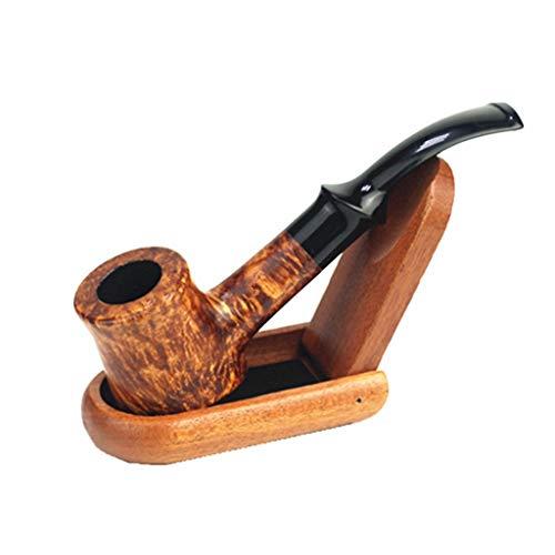 Pipe Pipa de Fumar de Madera Briar Pipa de Tabaco de Hierba portátil Picador de Humo Pipas de Humo Humo for Amigos Regalo de Hombres Pipe (Color : Judge Hammer Pipe A)