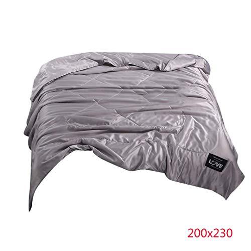Uzinb Sommer-Super Soft Polyester-Deckbett-Solid Color Klimaanlage Bettbezug Bettwäsche Nahtlose atmungsaktiv - Klimaanlage Color-glanz