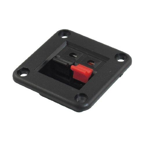 sourcingmap® Rot schwarz Eindrücken Typ Quadratische Lautsprecher Klemmen Platte 2 Position