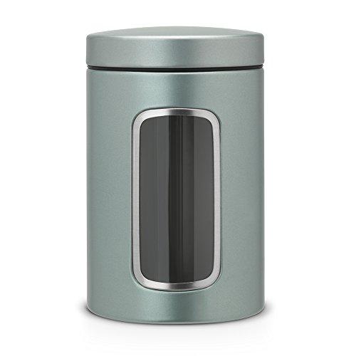 Kaffeedose Vorratsdose Fensterdose mit Sichtfenster, Metall rund ca. 1.4 l, mit Schutz vor...
