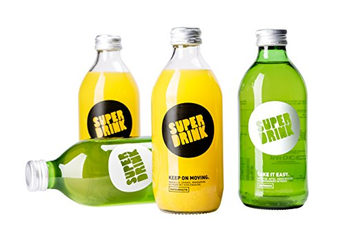 Apfel-ingwer Vitamine (SUPERDRINK 4er-Testbox Mixed: TAKE IT EASY Vital-Getränk & KEEP ON MOVING der alternative Energy-Drink, für lange Tage und lange Nächte (4x 330ML))