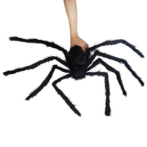 lulalula Halloween Dekoration Spider Plüsch Spider rot Eye Spider Web für Party Horror Decor Requisiten, Faser, schwarz, - Eigenen Zu Machen Ihre Sie Hause Halloween-dekorationen