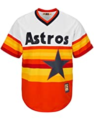 Houston Astros Cooperstown Majestic Cool Base Retro Rainbow Jersey Maillot