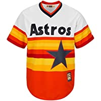 Houston Astros cool base Rainbow Jersey por Majestic - 7267-HSTO-HST-CTM, Naranja blanco