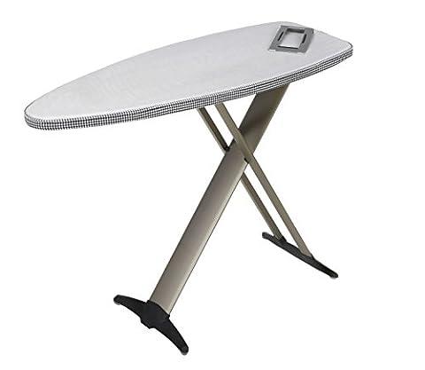 Mabi 2144 Nouveau Mabi Alu 1000 Table à repasser - avec cadre en aluminium - Kettler housse double revêtement aluminium - Légère - Portable - Large -