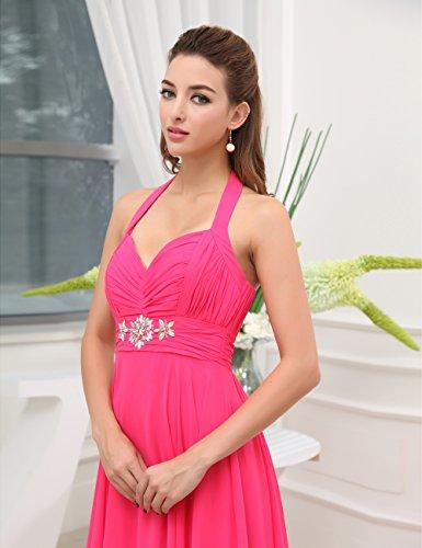 Dresstells Damen Abendkleid Chiffon Neckholder DT90104 Gelb