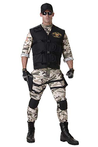 (SEAL Team Light Camo Uniform Costume Standard Teen Teen 14-16)