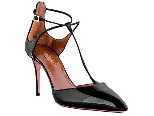 Chaussures à talon Aquazzura en cuir verni noir - Code modèle: SCAMIDP0 NPA 000 Noir