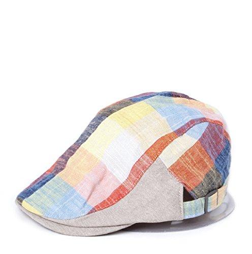 Dairyshop Cappello da berretto da ginnastica del cranio del cranio del cappello di Ivy del cappotto da baseball delle donne (Blu) Giallo