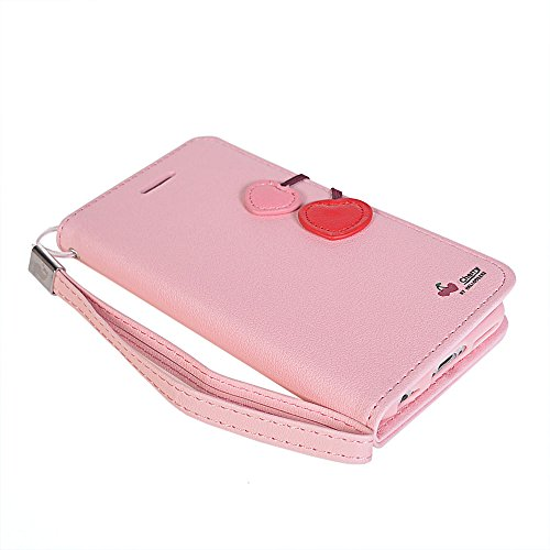 iPhone 6 Plus Coque,COOLKE [Vert] Flip Case PU Etui Housse Coque Cover pour Apple iPhone 6 Plus (5.5 inch) Pink