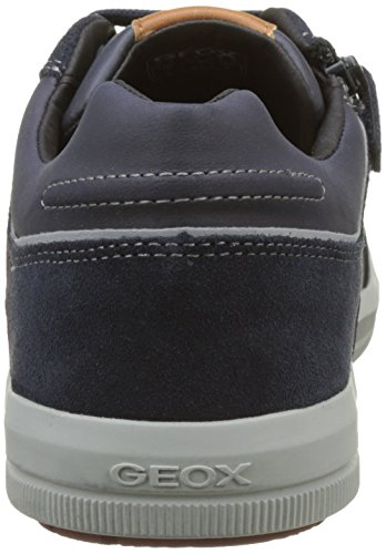 Geox J Arzach I, Sneakers Basses Mixte Adulte Bleu (Navy/bordeaux)