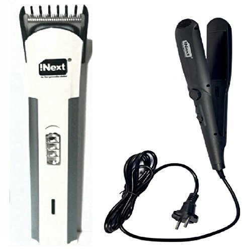 Combo Pack Offer Of Inext Trimmer And Inext Hair Straightening Machine For Men And Women Perfect Couple Combo... - B078HVSZN5