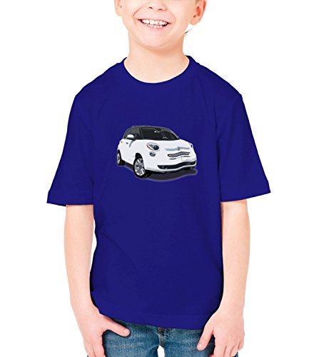 Billion Group | Fancy 500 | City Cars Collection | Boys Classic Crew Neck T-Shirt Dark Blue Small