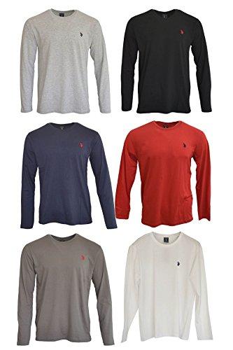 Ex US Polo Assn - T-Shirt à Manches Longues - Manches Longues - Homme Noir Choix de Cols.