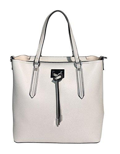 Tom & Eva Handtasche Tote Bag 2 in 1 mit herausnehmbarer Innentasche (Grey) (Logo Gucci Handtaschen)