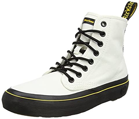 Dr. Martens Damen Monet Canvas Stiefel, Weiß (White Canvas), 41