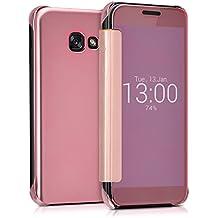 kwmobile Funda para Samsung Galaxy A3 (2017) Case Espejo Estilo Libro - Carcasa con