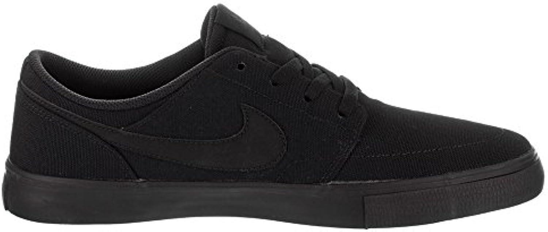 Nike SB Portmore II Solar Cnvs, Zapatillas de Skateboarding para Hombre, Negro (Black/Black 001), 38.5 EU  -